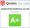 MHCreations reaches the highest level of website TLS         security as judged by Qualys SSL Labs