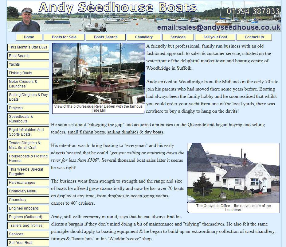 Andy Seedhouse Boats